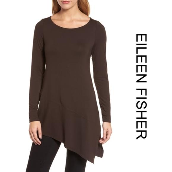 5e65bdc61e6a5 Eileen Fisher • Lightweight Viscose Jersey Tunic